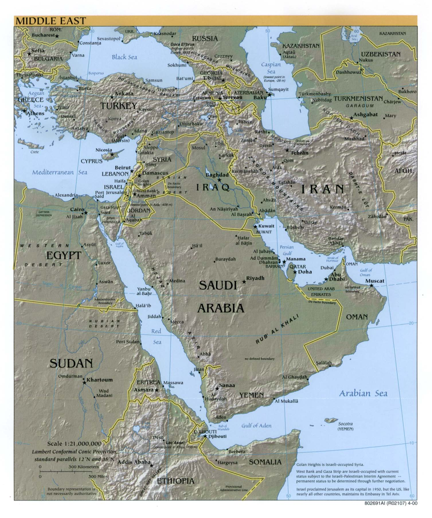 Middle East Ref Map